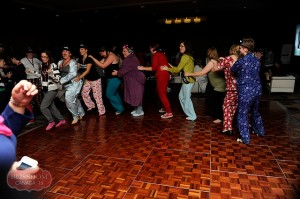 pajama party conga line
